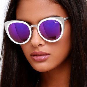 QUAY - Girly Talk Purple Mirror Sunglasses